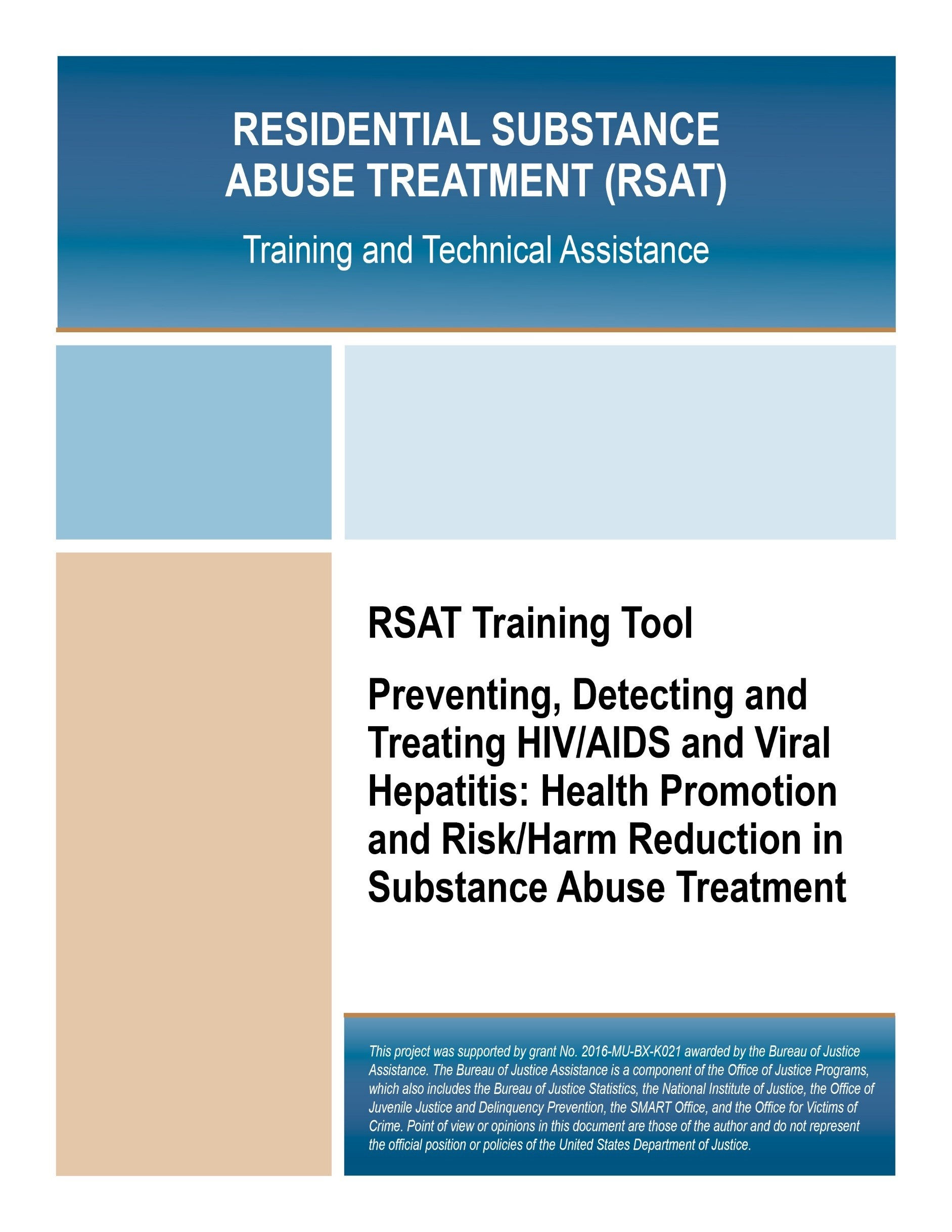 Preventing, Detecting and Treating HIV/AIDS and Viral Hepatitis: Health  Promotion and Risk/Harm Reduction in Substance Abuse Treatment